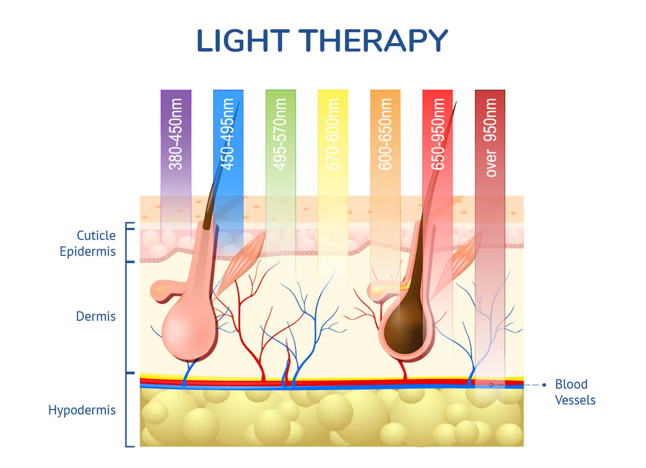 LED light therapy infographic